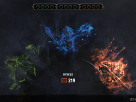 The new Champion Point system 2.0 in Update 29 has the Craft tree on the left in green, the Warfare tree in the centre in blue, and the Fitness tree on the right in red.