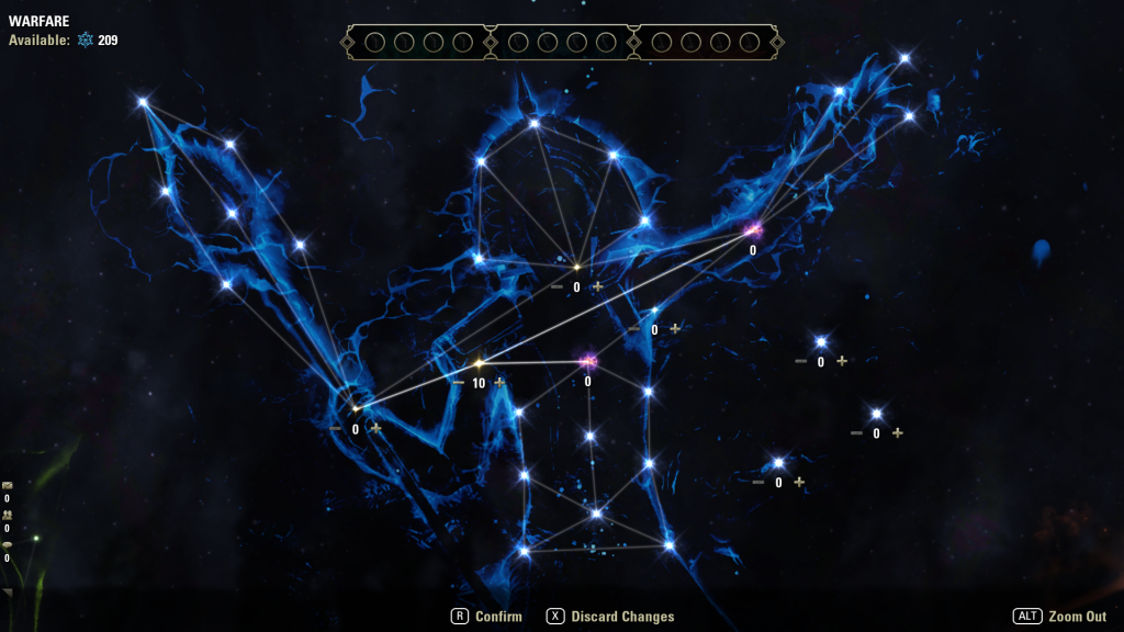 The Warfare Constellation tree.